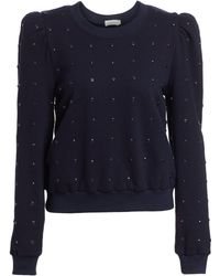 A.L.C. Azalia Studded Sweatshirt - Blue