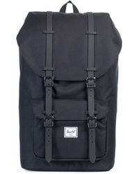 Herschel Supply Co.   Little America Leather And Canvas Blend Backpack   Lyst