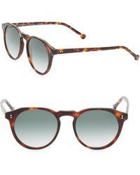 Colors In Optics - Sandy 51mm Round Tortoise Sunglasses - Lyst