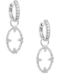 Jude Frances - Moroccan Champagne Open Oval Diamond Bezel Earring Charms - Lyst