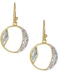 Shana Gulati - Safar Tonsa Diamond & Goldplated Hoop Drop Earrings - Lyst