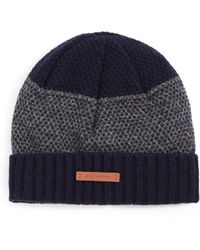 Bickley + Mitchell - Mixed-pattern Cuffed Lambswool Beanie - Lyst