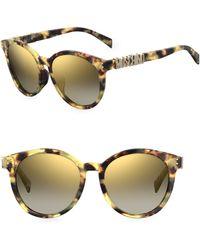 Moschino - 54mm Round Sunglasses - Lyst