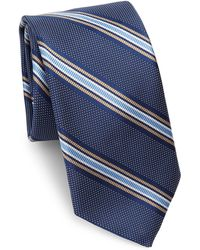 Saks Fifth Avenue - Collection Dotted Striped Silk Tie - Lyst