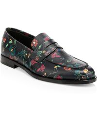 d6fd7062f1a Paul Smith - Men s Floral-print Leather Penny Loafers - Floral Print - Size  6