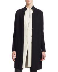 Akris - Bi-color Double Layer Cashmere Knit Coat - Lyst