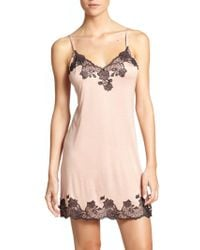 Natori - Josie Charlize Lace Embroidered Chemise - Lyst