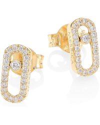 Messika - Move Classic 18k Yellow Gold & Diamond Stud Earrings - Lyst