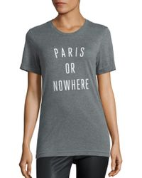 Knowlita - Paris Or Nowhere Heathered Graphic Tee - Lyst