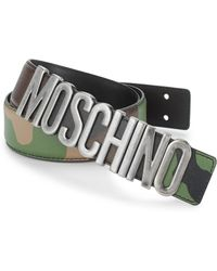 Moschino - Camouflage Leather Belt - Lyst