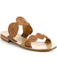 Jack Rogers - Lauren Leather Sandals - Lyst