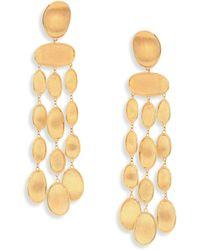Marco Bicego | Lunaria 18k Yellow Gold Chandelier Earrings | Lyst