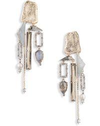 Alexis Bittar - Brutalist Butterfly Stone Chandelier Clip Earrings - Lyst