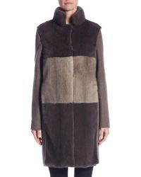 Manzoni 24 | Two-in-one Mink Coat And Vest | Lyst