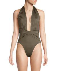 OYE Swimwear - Roman Plunge One-piece Swimsuit - Lyst