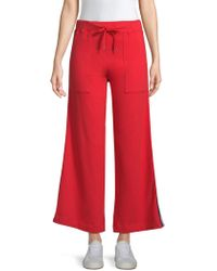 Sundry - Striped Flare Crop Trousers - Lyst