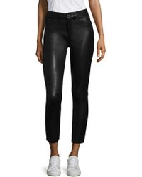 Rag & Bone - High-rise Leather Skinny Pants - Lyst