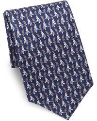 Ferragamo - Elephant Print Silk Tie - Lyst