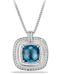 David Yurman - Chatelaine Pave Bezel Necklace With Gemstone And Diamonds - Lyst