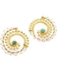 Gas Bijoux - Comedia 24k Goldplated Multi-bead Hoop Earrings - Lyst