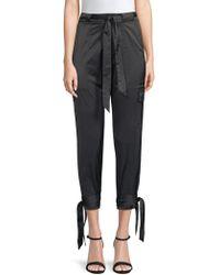 Joie - Women's Erlette Stretch Satin Trousers - Fatigue - Size 8 - Lyst