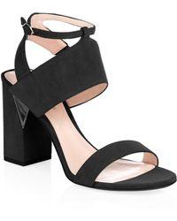 Nicholas Kirkwood - Eva Suede Ankle Cuff Sandals - Lyst