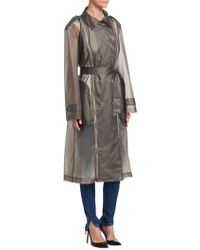 Tre by Natalie Ratabesi - Zip-up Trench Coat - Lyst