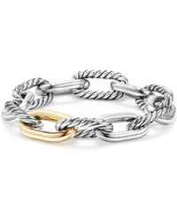 David Yurman - Madison Chain Large Bracelet With 18k Gold - Lyst