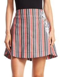 Carven - Striped Patch Mini Skirt - Lyst