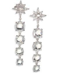 Anzie | Aztec Starburst White Topaz, White Sapphire & Sterling Silver Drop Earrings | Lyst
