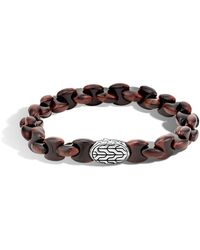 John Hardy - Sterling Silver Red Tiger Eye Bracelet - Lyst