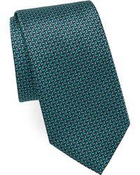 Brioni - Geometric Leaf Print Tie - Lyst