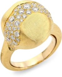 Marco Bicego - Africa Diamond & 18k Yellow Gold Ring - Lyst
