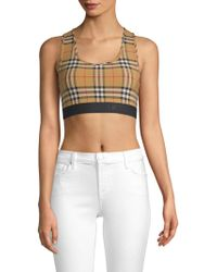 f66277dc97e8a Lyst - Boohoo Petite Exposed Zip Check Bralet in Red