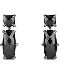 David Yurman - Chatelaine Double Drop Earrings With Hematine And Diamonds - Lyst
