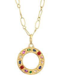Temple St. Clair - Natr Recon 18k Yellow Gold Multi-gem Pendant Necklace - Gold - Lyst