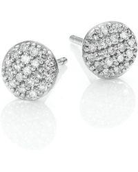 Phillips House - Affair Micro Infinity Diamond & 14k White Gold Stud Earrings - Lyst