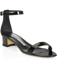 Manolo Blahnik - Chaflahi Leather Sandals - Lyst
