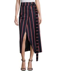 Solace London - Apolline Striped Midi Skirt - Lyst