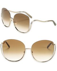 c19e5a54f0c68 Chloé - Milla 64mm Oversized Butterfly Sunglasses - Lyst