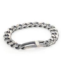 Tateossian - Grumette Silver Bracelet - Lyst