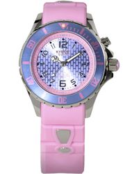 Kyboe - Power Light Pink Silicone & Stainless Steel Strap Watch/40mm - Lyst