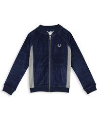 True Religion - Little Boy's & Boy's Velour Logo Track Jacket - Lyst
