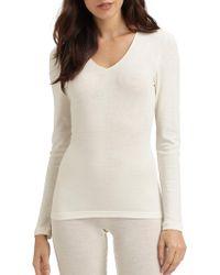 Hanro - Woolen Silk Long Sleeve Shirt - Lyst