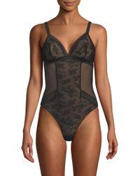 Maison Lejaby - Miss Lejaby Sheer Lace Bodysuit Black - Lyst