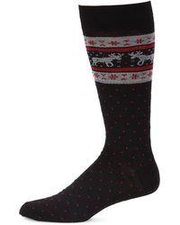 Saks Fifth Avenue | Collection Top Moose Fairisle Dress Socks | Lyst
