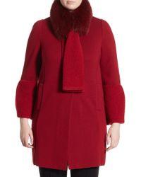 Stizzoli - Bell Sleeve Fox Fur Coat - Lyst