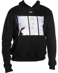 bd6f328a883a Lyst - Off-White c o Virgil Abloh Square Print Hoodie in Gray for Men
