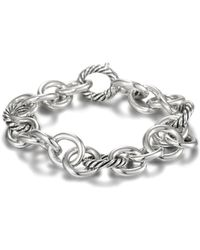 David Yurman - Sterling Silver Oval Link Bracelet - Lyst