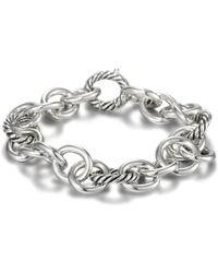 David Yurman - Sterling Silver Oval Link Bracelet - Lyst
